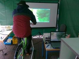 Bei der diesjährigen Tour de Rust war die Verkehrswacht Lahr auch wieder vertreten. Es konnte mit dem Fahrradsimulator die Verkehrssicherheit und die Reaktonszeit getestet werden.